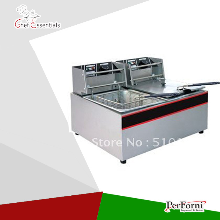 Electrical Fryer(EF-85D)/8.5+8.5Lter/S.steel/Fast heatup/Oil tape typeElectrical Fryer(EF-85D)/8.5+8.5Lter/S.steel/Fast heatup/Oil tape type
