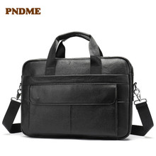 цены High quality leather men's bag business cowhide briefcase single shoulder crossbody bag men's laptop bag