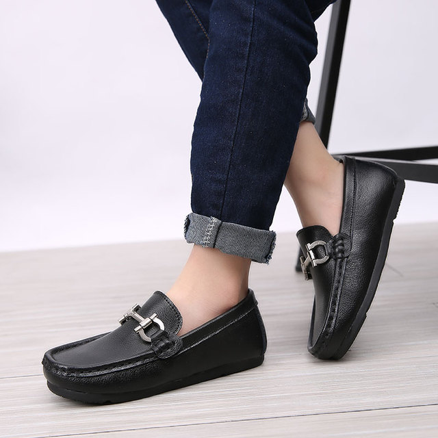 2622cc9c9e0f Children Shoes Genuine Leather Casual Styles Boys Girls Shoes Soft  Comfortable Loafers Slip On Kids Shoes