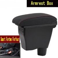 Voor smart fortwo armsteun doos universele car center console smart forfour caja modificatie dubbele verhoogd met USB Geen montage