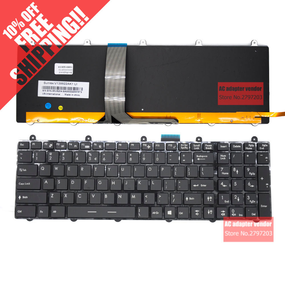 NEW Replace FOR MSI GE70 GT60 GT70 GX60 GX70 GT780 GE60 1762 colourful backlight laptop Built-in keyboard цена