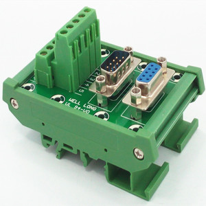 Image 3 - D SUB DB9 DIN Rail Mount Interface Module  Male/Female Header Breakout Board, Terminal Block, Connector.