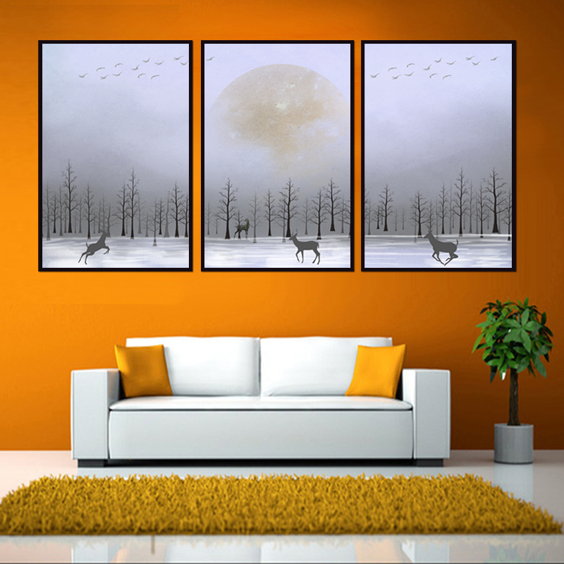 Factory wholesale No Framed Animal poster series Canvas Print On Canvas Printing Wall Pictures 12YM A 673 in Painting Calligraphy from Home Garden