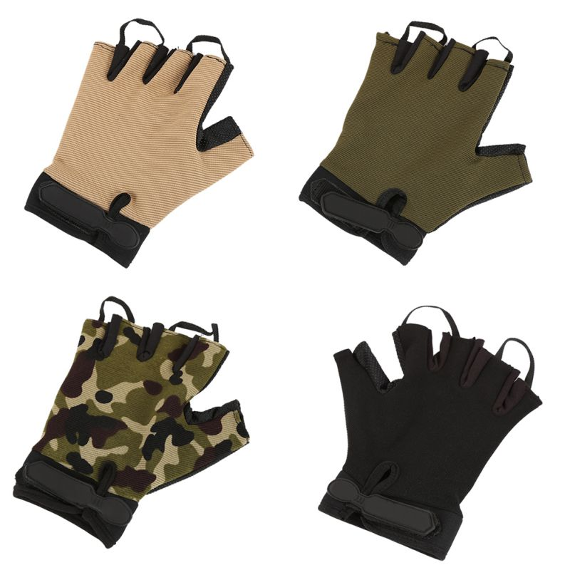 Tactical Anti-Slip Half Finger Gloves Outdoor Gloves High Quality  Sport Gloves