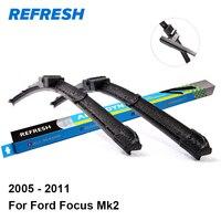 Car Wiper Blade For Ford Focus 2006 2011 26 17 Rubber Bracketless Windscreen Wiper Blades Wiper