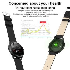 Image 3 - Elegante Smart Uhr Frauen 1,22 zoll Großen Bildschirm Wasserdichte IP67 Herz Rate Blutdruck Tracker Uhr für iPhone 7/Xiaomi
