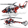 Decool 3355 3356 Technic AeroKing Rescue Helicopter building bricks blocks Toys for children Compatible with Lepin Bela 8068