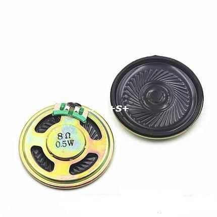2pcs. 8 Ohm 0.5W Horn Speaker 40MM 4CM Diameter 8R 0.5W  Loudspeaker