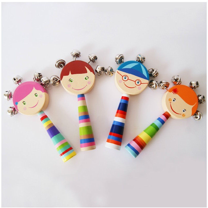Wooden rattles children's music educational toys,wood baby ...