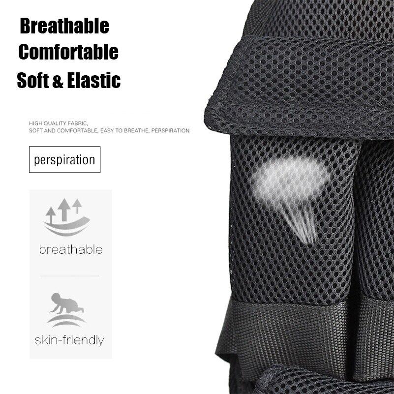 5 kg 20 kg 60 kg di Carico Weighted Vest Guantoni Da Boxe Formazione Esercizio Regolabile Nero Giacca Crossfit Swat Sanda Sparring Peso maglia