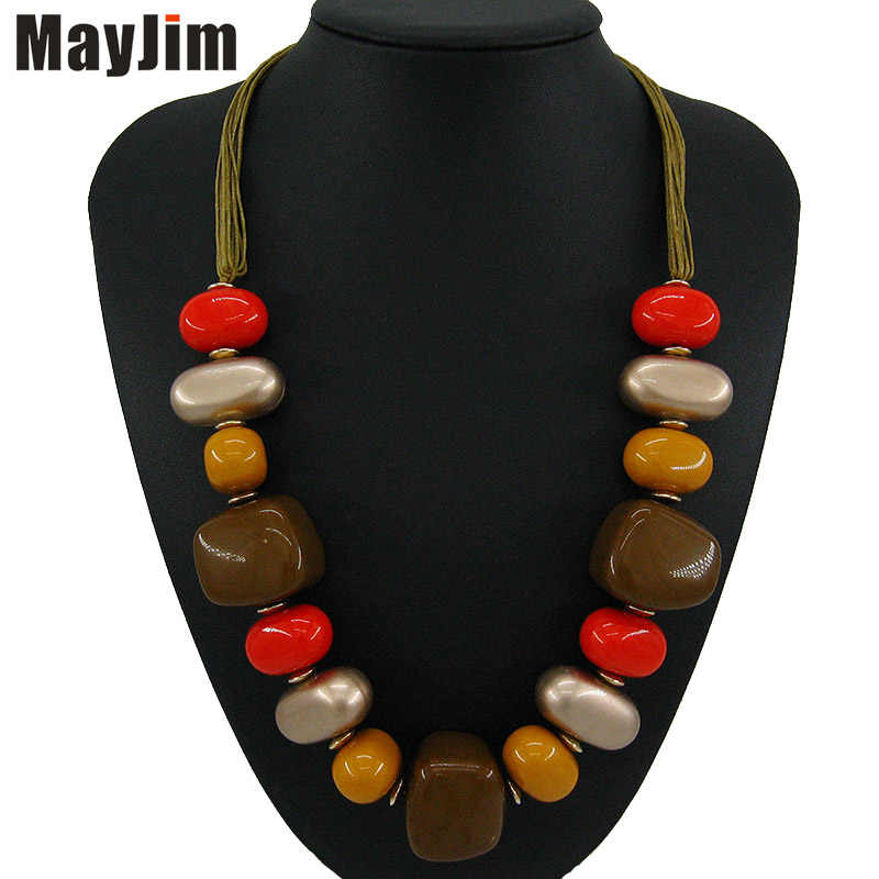 Bohemian Statement necklace fashion for women 2018 long collar big chain bib chocker chunky necklaces & pendants Jewelry MayJim