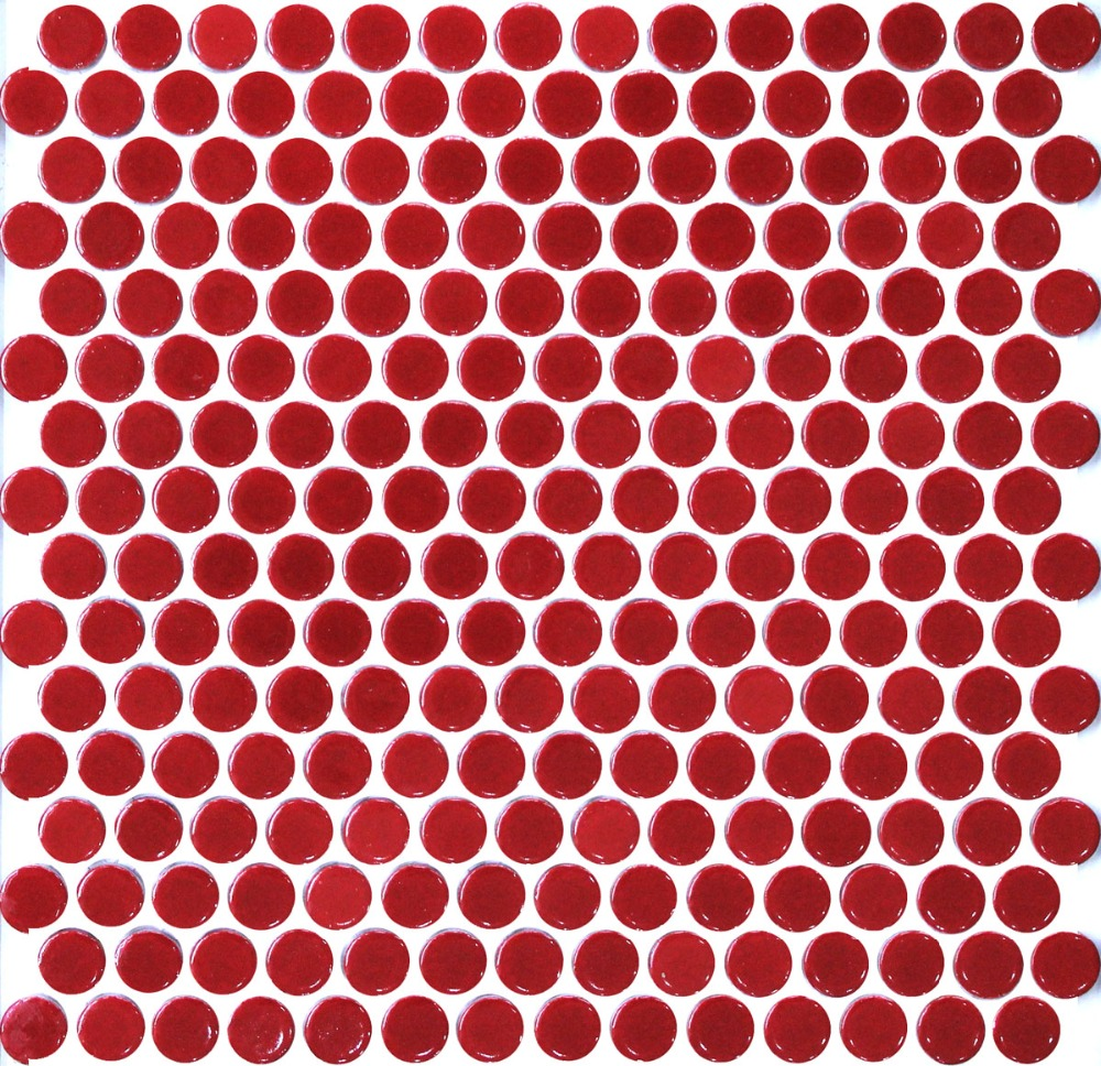 11pcs red penny round ceramic mosaic tile kitchen backsplash 11pcs red penny round ceramic mosaic tile kitchen backsplash bathroom wall shower hallway wallpaper border tiles home decoration in wallpapers from home dailygadgetfo Image collections