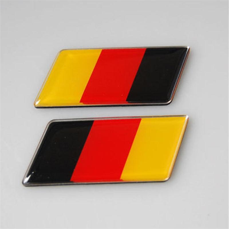 ᗕBarbacoas @ fuka 2 unids aluminio Bandera de Alemania emblema ...