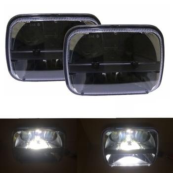 7x6 Inch LED Headlights Bulb FIT for 86-95 Jeep Wrangler Rectangular Freightliner Peterbilt International Mack 30W