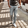 SIMWOOD 2017 New Spring Summer Spray Painting Striped Jeans Men Skinny Thin Fashion Slim Fit Denim