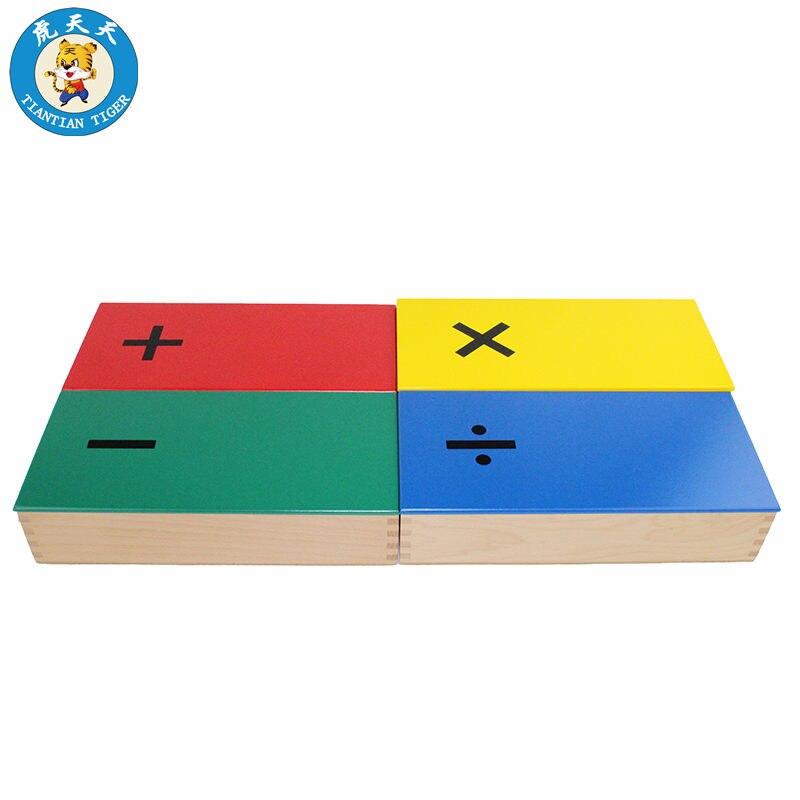 Enfants Montessori Math Jouets Éducation Précoce Jouets En Bois Boîte de Calcul Mental Plus Soustraction Multiplication Division