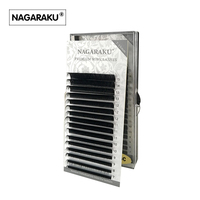 NAGARAKU 16rows Case 7 15mm Mix In One Tray High Quality Synthetic Mink Natural Mink Individual