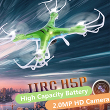 Free Shipping RC Quadcopter JJRC H5P CF Headles Autoreturn Mode 2.4G 4CH 6 Axiote RC Helicopter Drone With HD Camera VS SYMA X8W