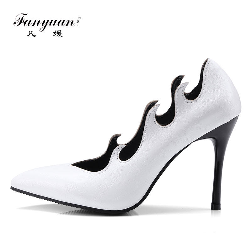 Fanyuan 10cm Super High Heels Women Shoes Stylish Stiletto Woman Pumps Pointed Toe Ladies Shoes Evening Party Shoes Black Heels