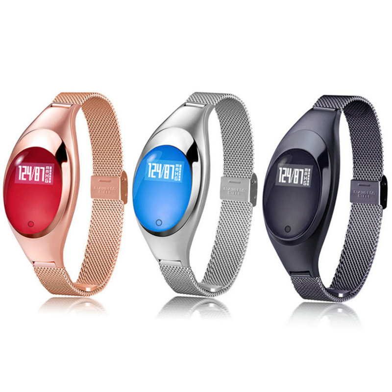 Bracelet Wrist-Watch Blood-Pressure-Heart-Rate Android Ladies Gift for IOS Monitor Luxurious