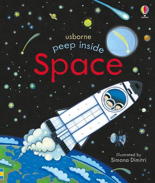 Peep Inside espacio educativo inglés foto colgajo bebé libros para niños bebé libro de lectura