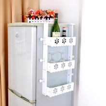 Pastoral refrigerator sidewall rack pendant side frame face frame kitchen storage racks kitchen shelving thick wall