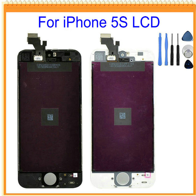 A++++ For iPhone 6 5 5s 5c LCD Screen Display with Touch Screen Digitizer Assembly + Tools Black White Free Shipping