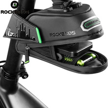 ROCKBROS Bicycle Bike Rear Bag Rainproof Nylon Bike Saddle Bag Outdoor Cycling Mountain Bike Back Seat Tail Pouch Package rockbros bicycle bags large capacity cycling camera rack bag rainproof mtb mountain bike rear seat travel bag bike accessories