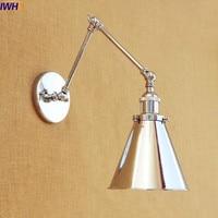 IWHD Loft Edison LED Wall Light Fixtures Swing Long Arm Wall Lamp Vintage Antique Wall Sconce Lights Wandlampen Applique Murale