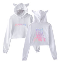 BLACKPINK Crop Top Hoodies With Ears (5 Models)