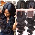 7A Brazilian Body Wave Lace Closure,4x4 Unprocessed Human Hair Closure,Free Middle 3 Part Top Lace Closure Virgin Hair Closures