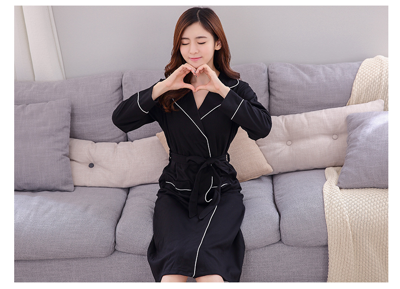 Europe United States sexy nightdress spring and autumn womens long-sleeved large size cotton bathrobe winter ladies robe SY119