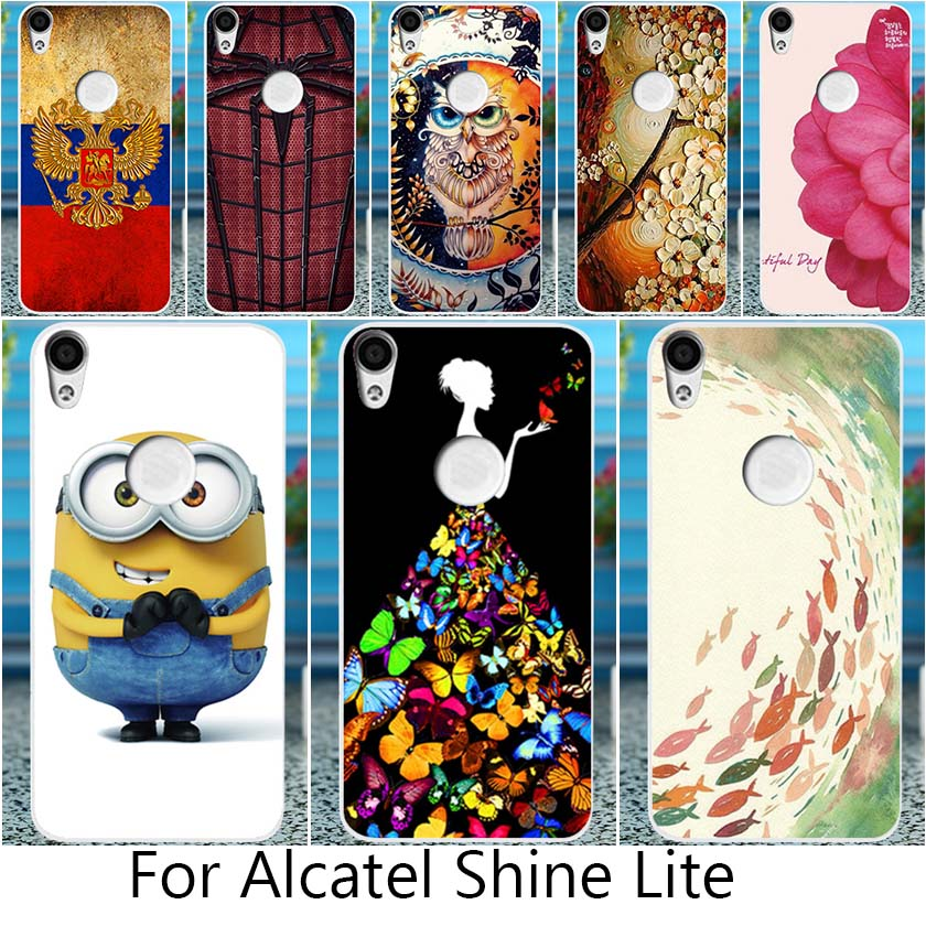 Akabeila For <font><b>Alcatel</b></font> 5080 Phone <font><b>Case</b></font> <font><b>Alcatel</b></font> Shine Lite Cover <font><b>5080X</b></font> Fundas Soft Silicon <font><b>Case</b></font> DIY Painted Hood Ladies Owl Flower image