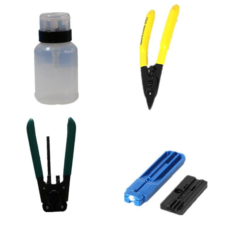 Fibre Optique FTTH Outil Kit Avec Pinces de Pince À Dénuder Et Miller fibre Cleaver Et Optique Power Meter 5 km rouge pointeur laser - 3