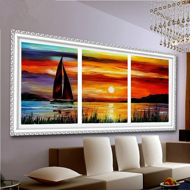 színezés számokkal akril festék festészet táj hálószoba fal színek képek 40X50X3 olcsó modern festészet R3018
