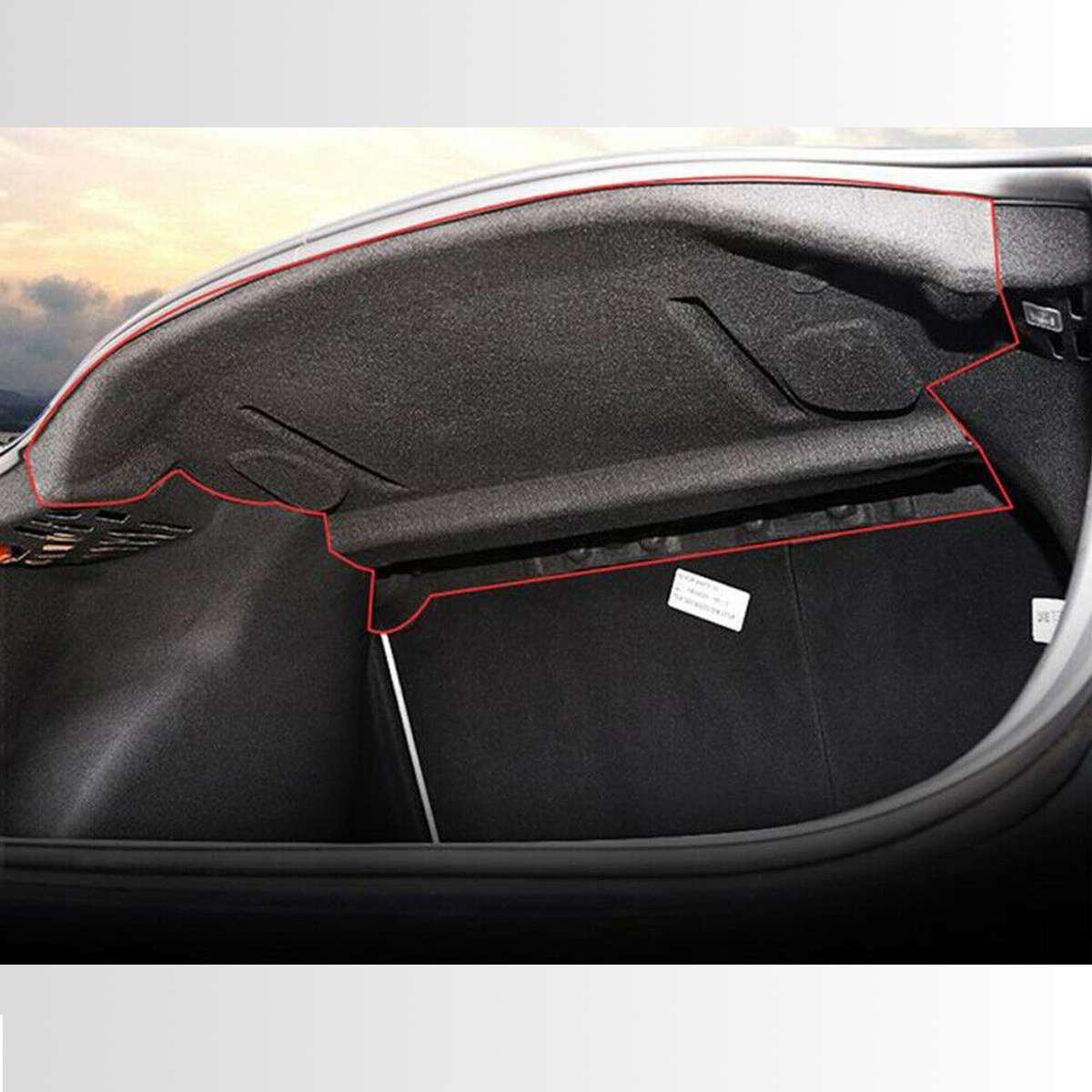 Nouveau tapis de protection insonorisé en coton pour coffre arrière pour voiture Tesla modèle 3 - 4
