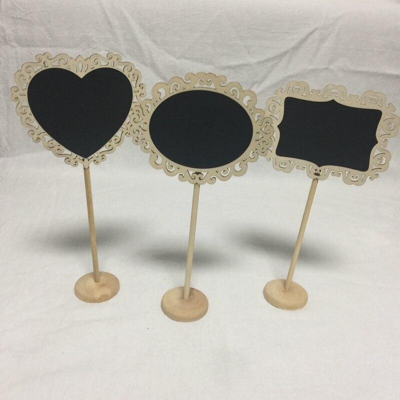 10pcs mini chalkboard signs wood chalkboard wedding place cards message board sign (3)