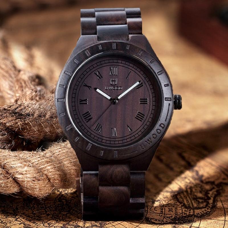 Top marque Quartz hommes en bois montre-bracelet Sport bois montre hommes hommes hommes classique montre-bracelet 2018 chaud décontracté militaire
