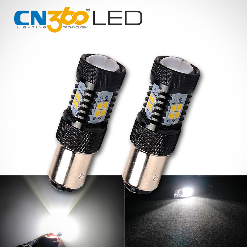 CN360 2PCS 950Lumens SMD3030 White 1157 BAY15D P21/5W Car LED Lamp DC 12V Auto Brake Light Led Bulb msled l04 g4 4w 130lm 6500k 5 smd 3030 led white light spot beam bulb ac dc 12v