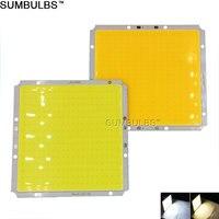 Sumbulbs 100x95MM Square Ultra Bright 50W COB LED Light Lamp 5000LM Warm Cold White DC 12V