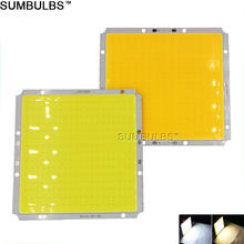 Sumbulbs 100x95MM Square Ultra Bright 50W COB LED Light Lamp 5000LM Warm Cold White DC LED 12V Chip On Board Matrix Bulb for DIY(China)