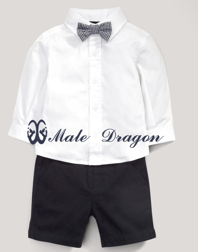 children suit formal boys shirts shorts baby boy birthday dress kids short sleeve summer prom clothing sets  2 pcs sets 1-5years antares h glxt 1474h черное золото elektrostandard