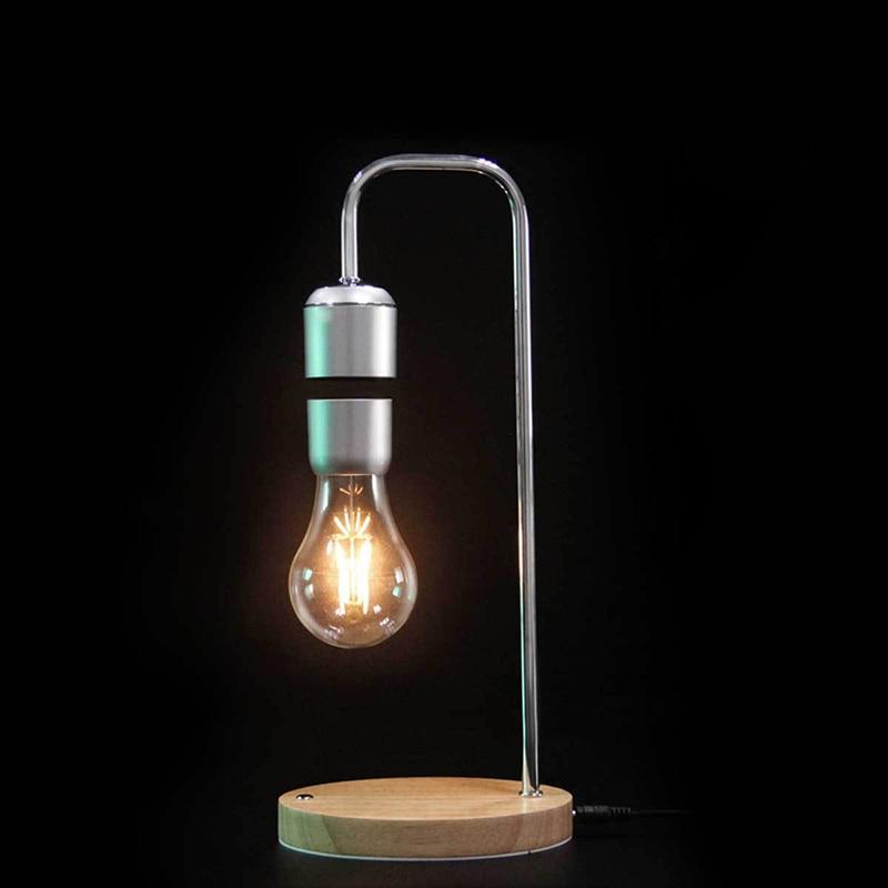 Livraison directe Magnétique Lévitation Flottant Ampoule lampe de bureau pour Unique Cadeaux décor de chambre Lumière de Nuit bureau Tech Jouets - 3