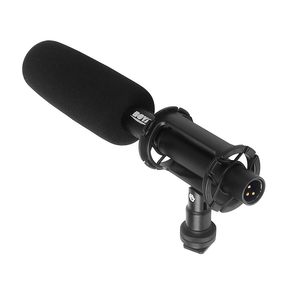BOYA BY-PVM1000 Professional DSLR Condenser Shotgun Microphone Video Interview Reporting for Canon Nikon Sony DSLR Cameras boya by vm190 stereo shotgun microphone w windshield for canon nikon pentax dslr camera