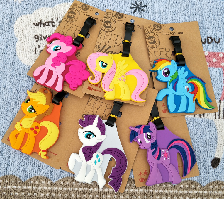 IVYYE Little Ponyss Anime Travel Accessories Luggage Tag Suitcase ID Address Portable Tags Holder Baggage Labels New