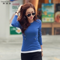 Undershirt Women Knitted Cotton Female O Neck Tops Casual Girl Sexy Slim Spring Autumn Plus Size