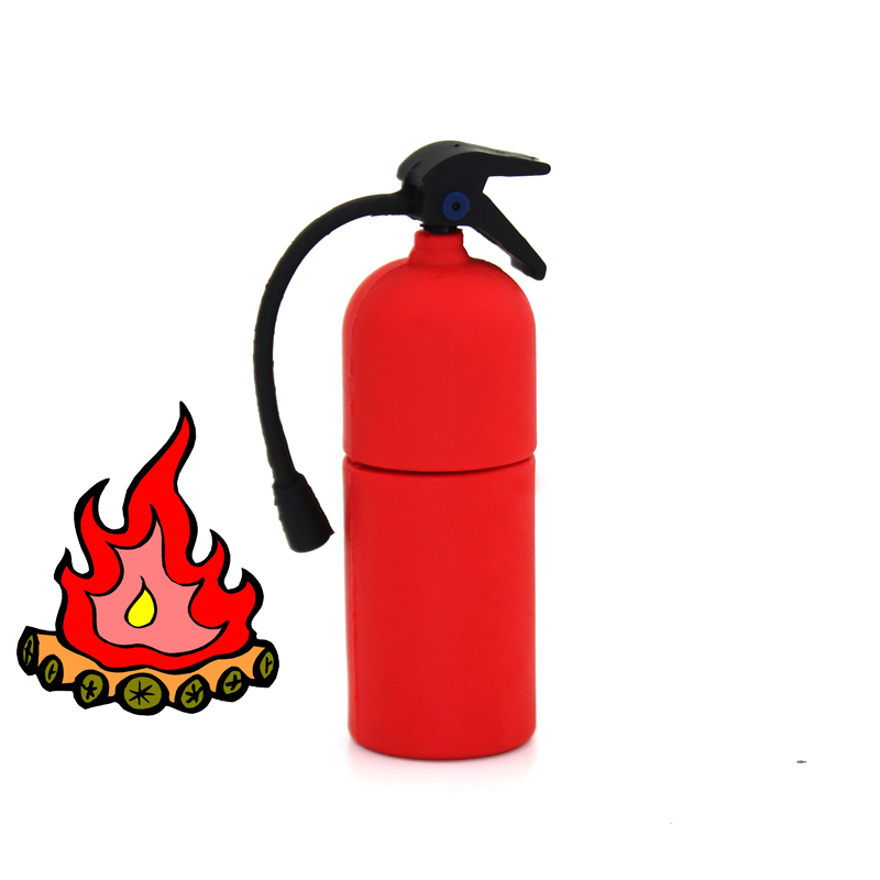 PVC Cartoon Fire Extinguisher Pen Drive 128gb Usb 3.0