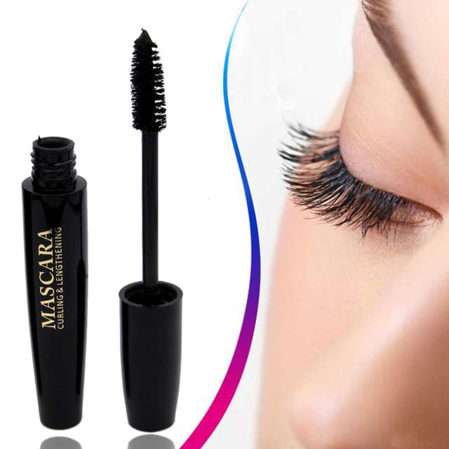3fb1687aec7 Women 4D Thick Mascara Waterproof Long Curling Natural Eye Makeup Eyelash  Cream Black Mascara Eye Lashes Brush Make Up Mascara