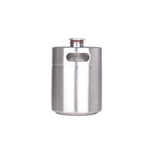 Image 2 - 新しい到着した304ステンレス鋼5l/3.6l/2lミニ樽ビールgrowlerポータブルビールボトルホームビール作りバーアクセサリーツール