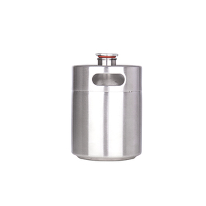 Image 2 - New arrived 304 Stainless Steel 5L/3.6L/2L Mini Keg Beer Growler Portable Beer Bottle Home Beer Making Bar Accessories Tool